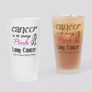 Cancer is Not Always Pink! Drinking Glass