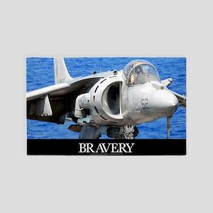Air Force Poster: An AV-8B Harrier  3'x5' Area Rug