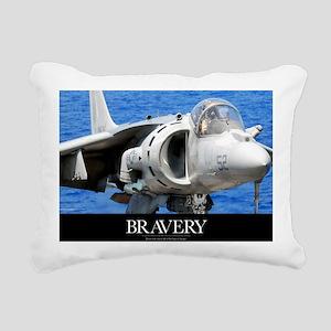 Air Force Poster: An AV- Rectangular Canvas Pillow