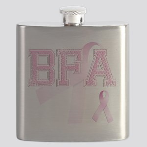 BFA initials, Pink Ribbon, Flask