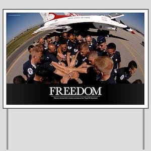 Air Force Poster: Air Force Thunderbird  Yard Sign
