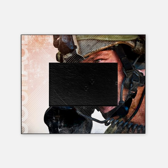Air Force Grunge Poster: Loyalty. U. Picture Frame