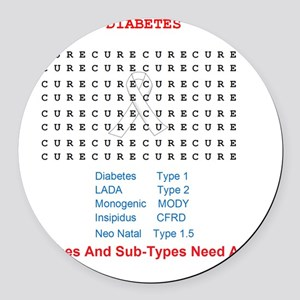Searching To Cure Diabetes Round Car Magnet