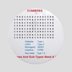 Searching To Cure Diabetes Round Ornament
