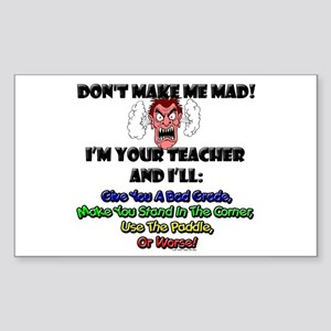 Teacher Rectangle Sticker