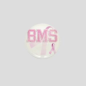 BMS initials, Pink Ribbon, Mini Button