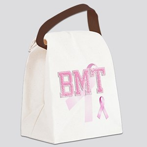 BMT initials, Pink Ribbon, Canvas Lunch Bag