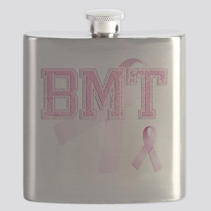 BMT initials, Pink Ribbon, Flask