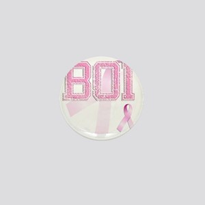 BOI initials, Pink Ribbon, Mini Button