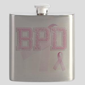 BPD initials, Pink Ribbon, Flask