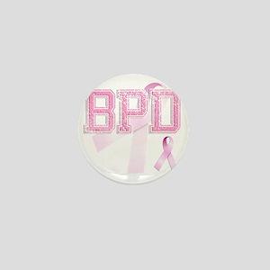 BPD initials, Pink Ribbon, Mini Button