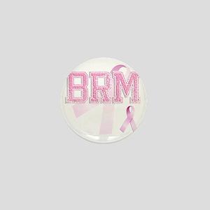 BRM initials, Pink Ribbon, Mini Button
