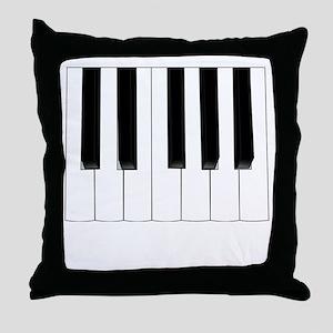 Keyboard Keys Throw Pillow