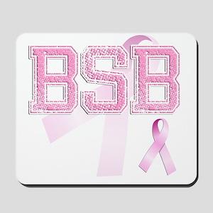 BSB initials, Pink Ribbon, Mousepad