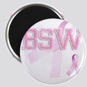 BSW initials, Pink Ribbon, Magnet