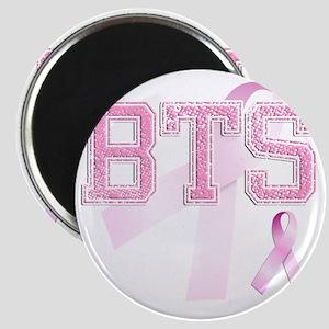 BTS initials, Pink Ribbon, Magnet