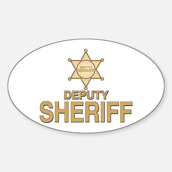 Deputy Sheriff Deputy Sheriff Oval Decal