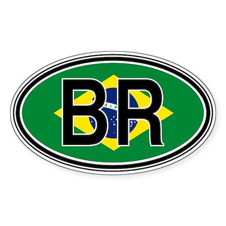 Brazil Euro Oval Sticker