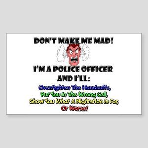 Police Officer Rectangle Sticker