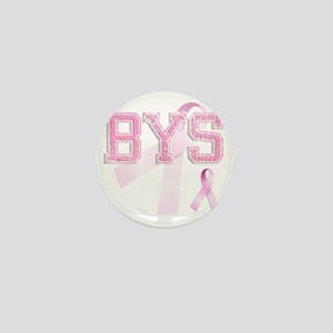 BYS initials, Pink Ribbon, Mini Button