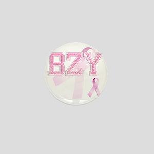 BZY initials, Pink Ribbon, Mini Button