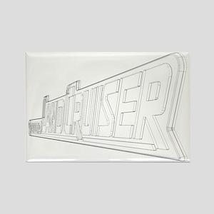 LandCruiser emblem wireframe Rectangle Magnet