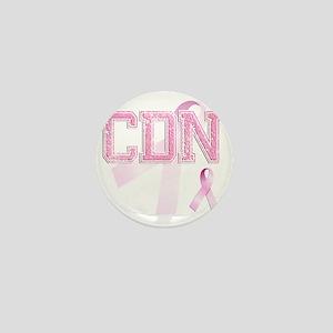CDN initials, Pink Ribbon, Mini Button