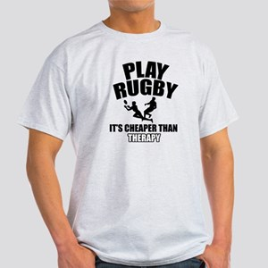 rugby cheaper than therapy Light T-Shirt