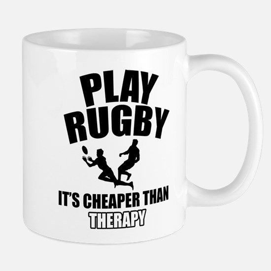 rugby cheaper than therapy Mug