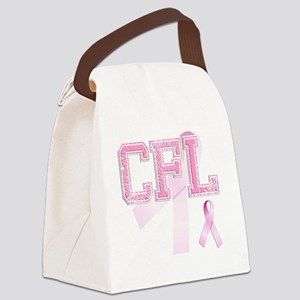 CFL initials, Pink Ribbon, Canvas Lunch Bag
