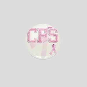 CFS initials, Pink Ribbon, Mini Button