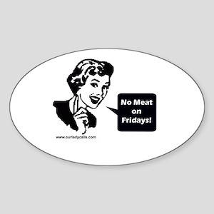 Confession Oval Sticker
