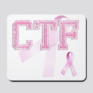 CTF initials, Pink Ribbon, Mousepad