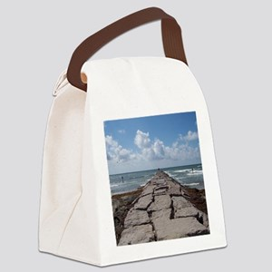 Galveston Jetty Canvas Lunch Bag