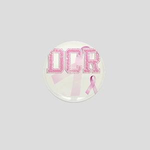 DCR initials, Pink Ribbon, Mini Button