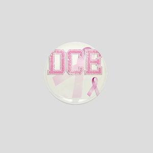 DCE initials, Pink Ribbon, Mini Button