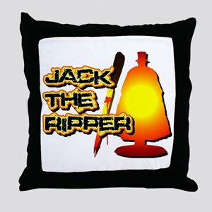 Jack the Ripper in Orange Throw Pillow
