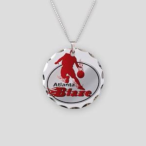 Atlanta Blaze Necklace Circle Charm