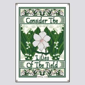 Consider The Lilies Banner