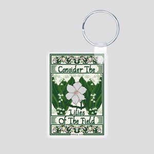 Consider The Lilies Aluminum Photo Keychain