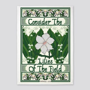 Consider The Lilies 5'x7'Area Rug