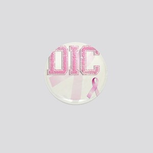 DIC initials, Pink Ribbon, Mini Button