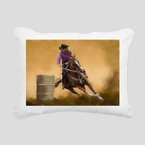 Barrel Racing Rectangular Canvas Pillow