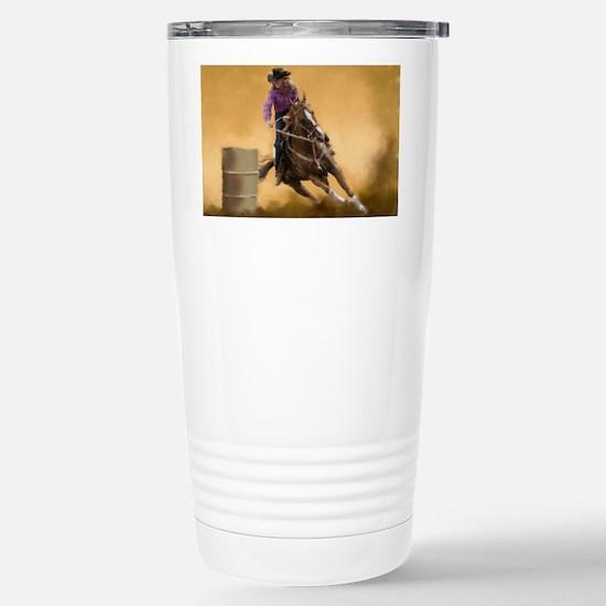 Barrel Racing Stainless Steel Travel Mug