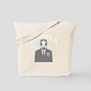 daddy-diaper-svc-BLK six Tote Bag