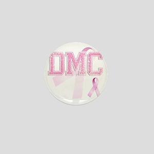 DMC initials, Pink Ribbon, Mini Button