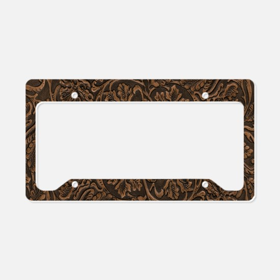 saddle leather License Plate Holder