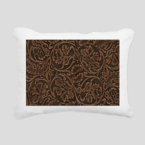 saddle leather Rectangular Canvas Pillow