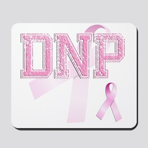 DNP initials, Pink Ribbon, Mousepad