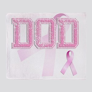 DOD initials, Pink Ribbon, Throw Blanket